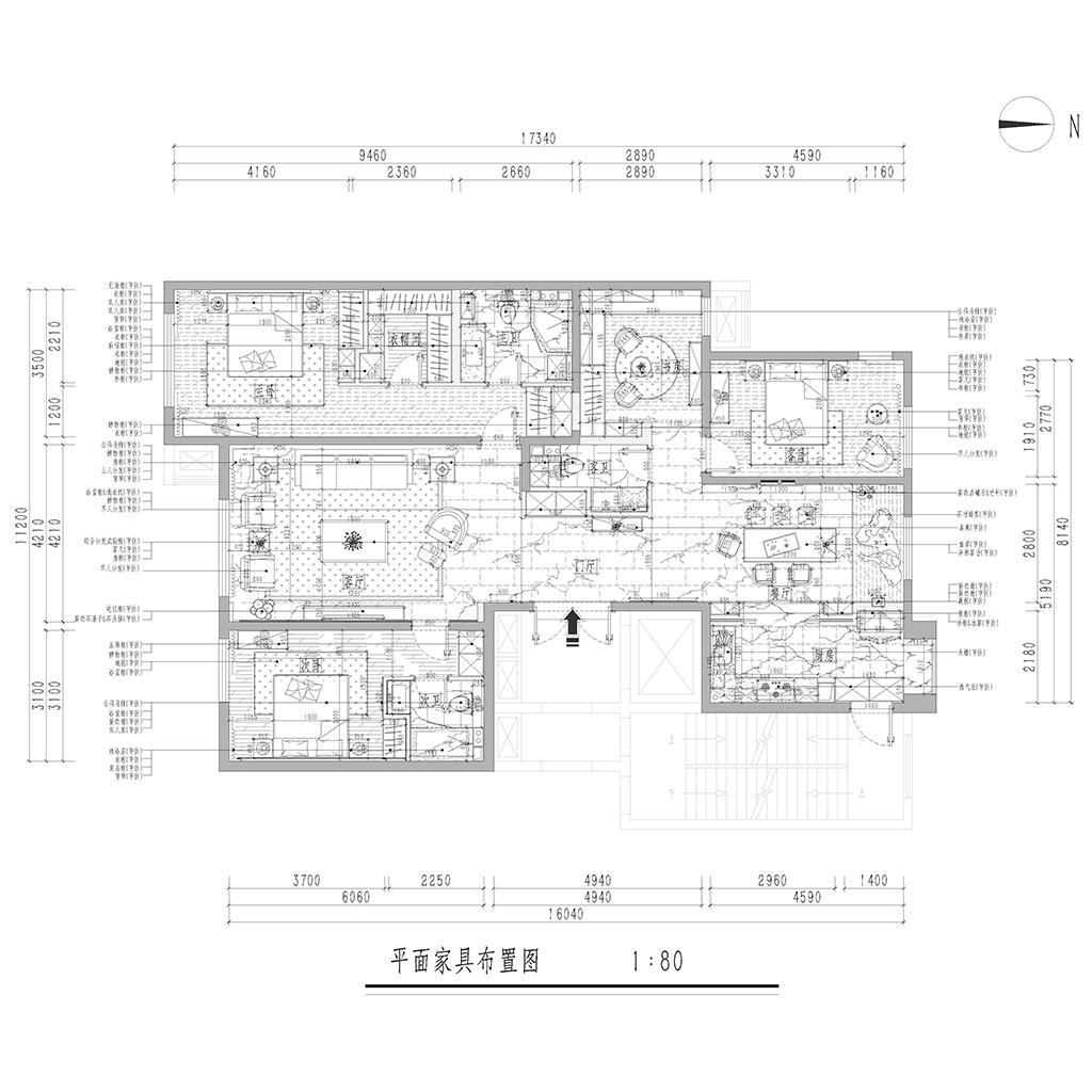 K2玉兰湾180平米三居室新中式风格装修效果图装修设计理念