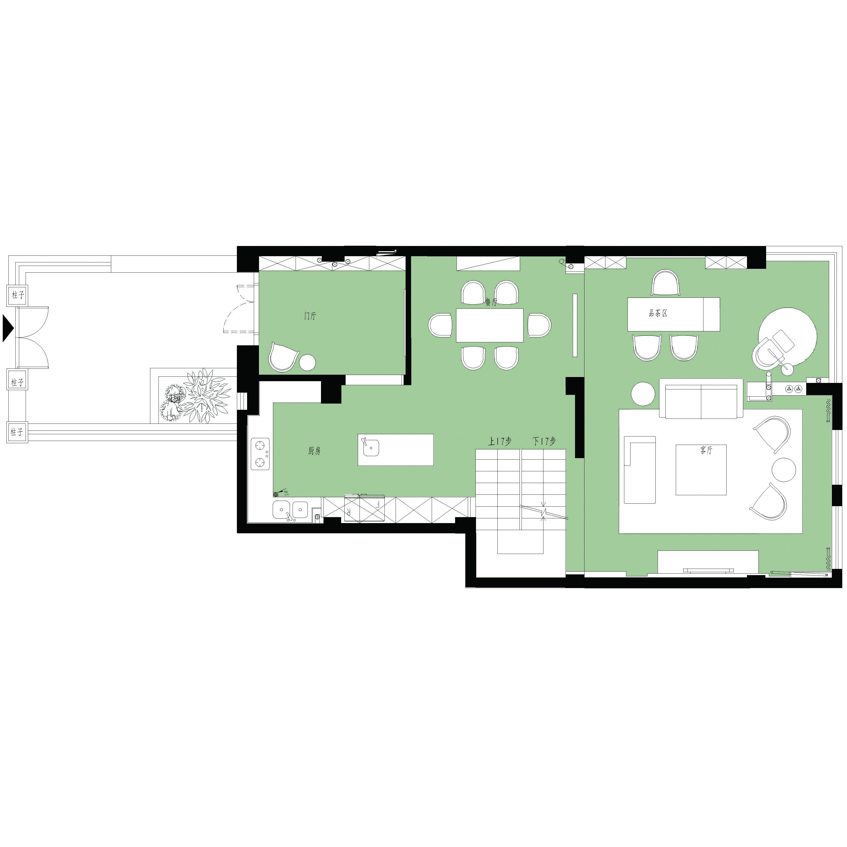 星海湾-新中式-260平米装修设计理念