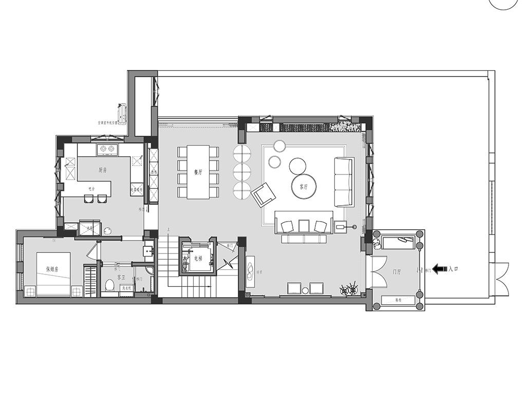 顺发御园320平别墅现代简约装修设计理念