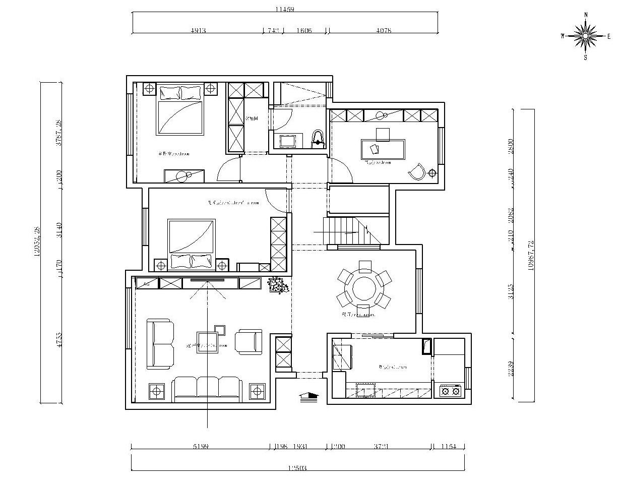 花溪度-180平米-北欧装修设计理念