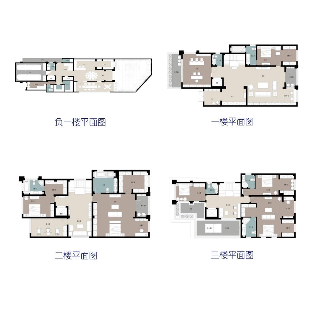 半山悦750㎡别墅现代简约风格装修设计理念