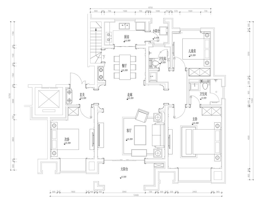御翠园 法式风格装修 594平米别墅装饰 五室三厅一厨三卫设计方案装修设计理念