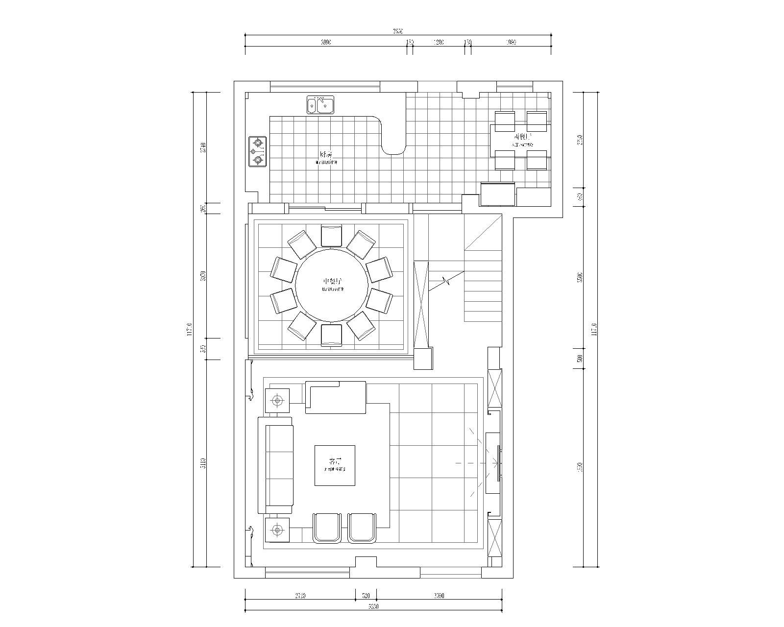 卧龙湾新中式风格260㎡效果图装修设计理念