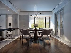 扬州天下联排别墅现代美式装修:梦浮尼斯