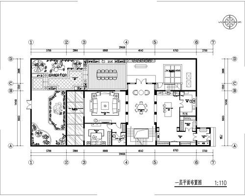 北辰红橡墅-600平米简美装修设计理念