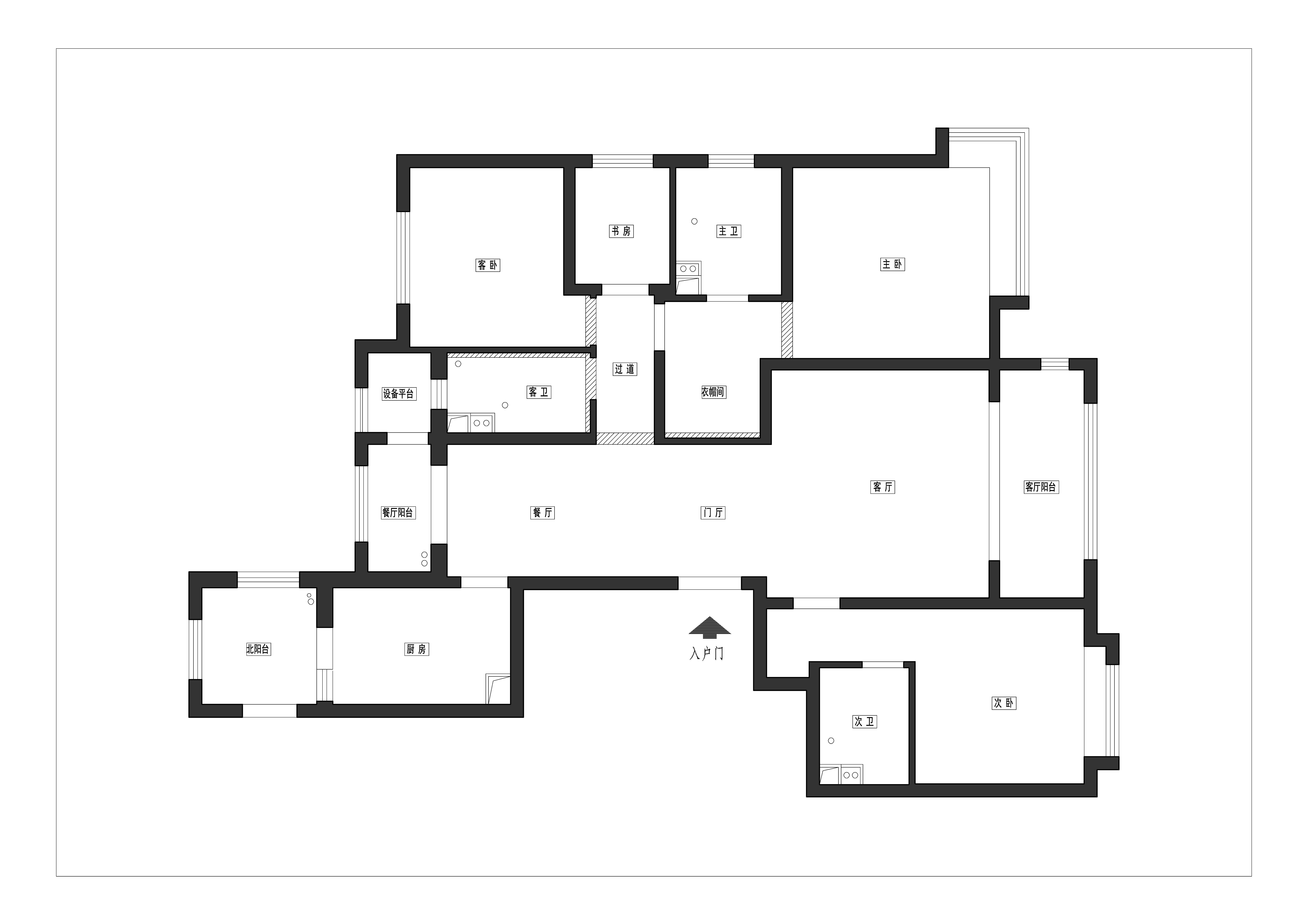 德贤公馆143平三室二厅现代简约风格装修案例装修设计理念