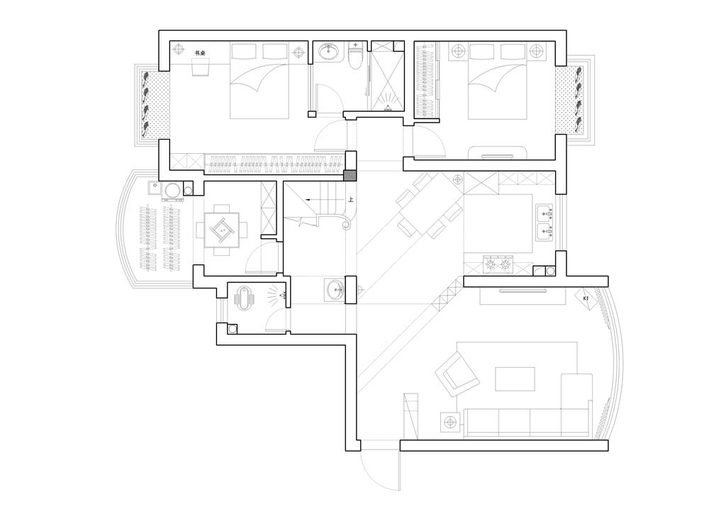 中房天玺湾190㎡地中海风格平层装修设计理念