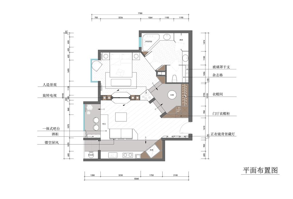 美景东方-65平米-现代装修设计理念