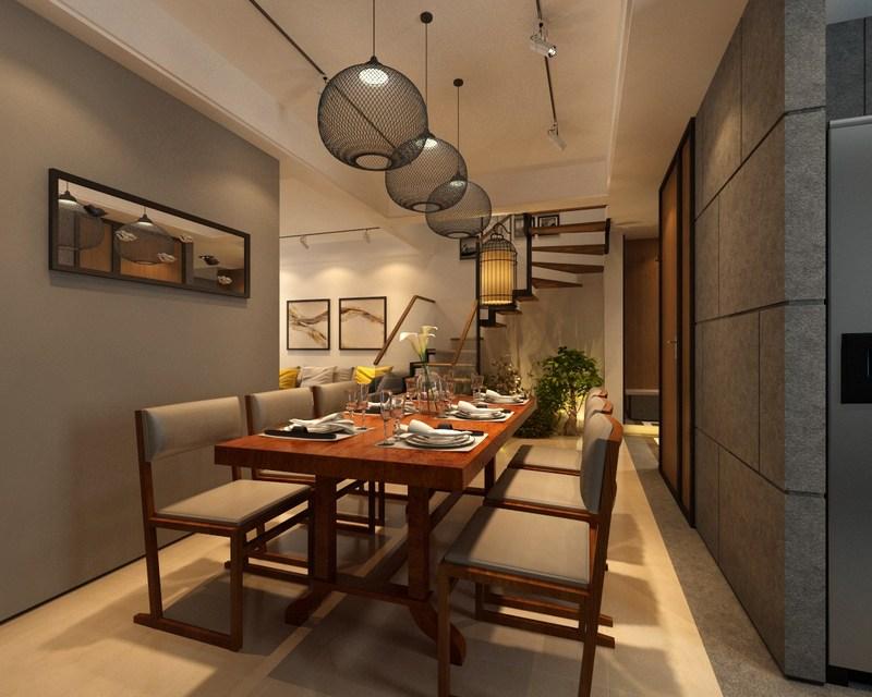 深圳东易日盛原创国际别墅装修作品-别墅餐厅装修效果图