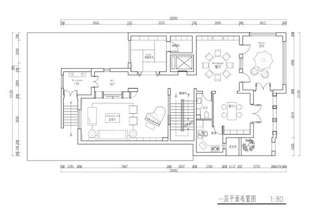 万通天竺新新家园-430平米-法式乡村装修设计理念