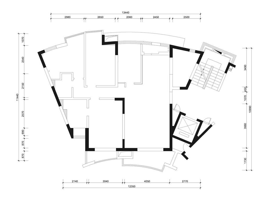 花园城 美式风格装修效果图 127平米 三室两厅装饰设计装修设计理念