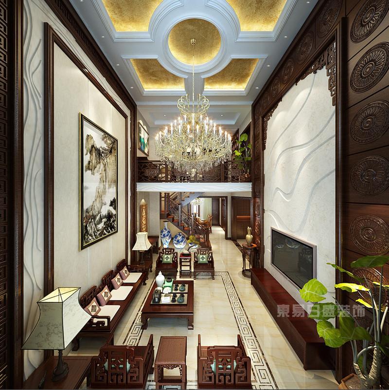 五大风格复式楼客厅装修设计效果图片