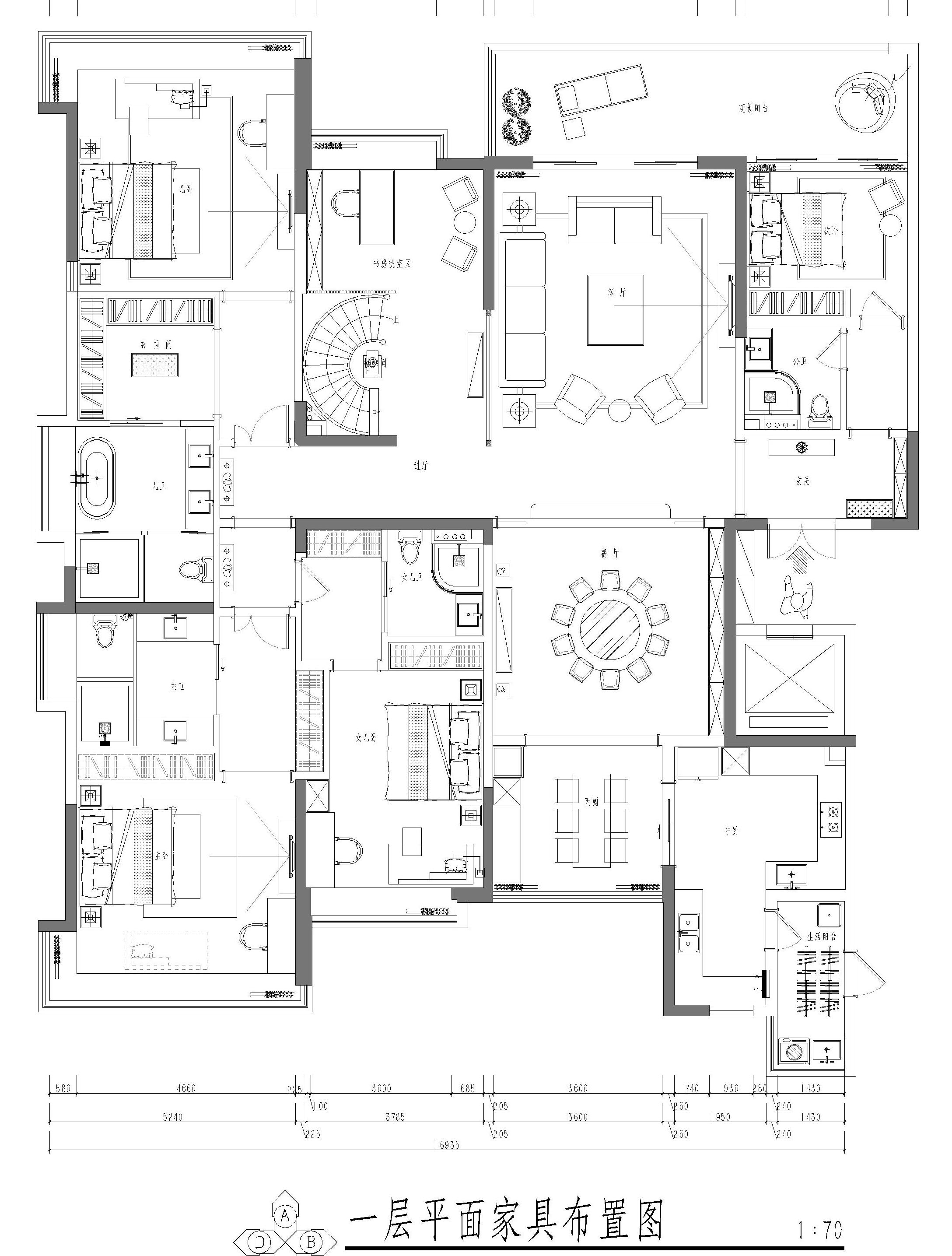 松山湖锦绣山河观园装饰案例-500㎡新中式风格复式家装效果图装修设计理念