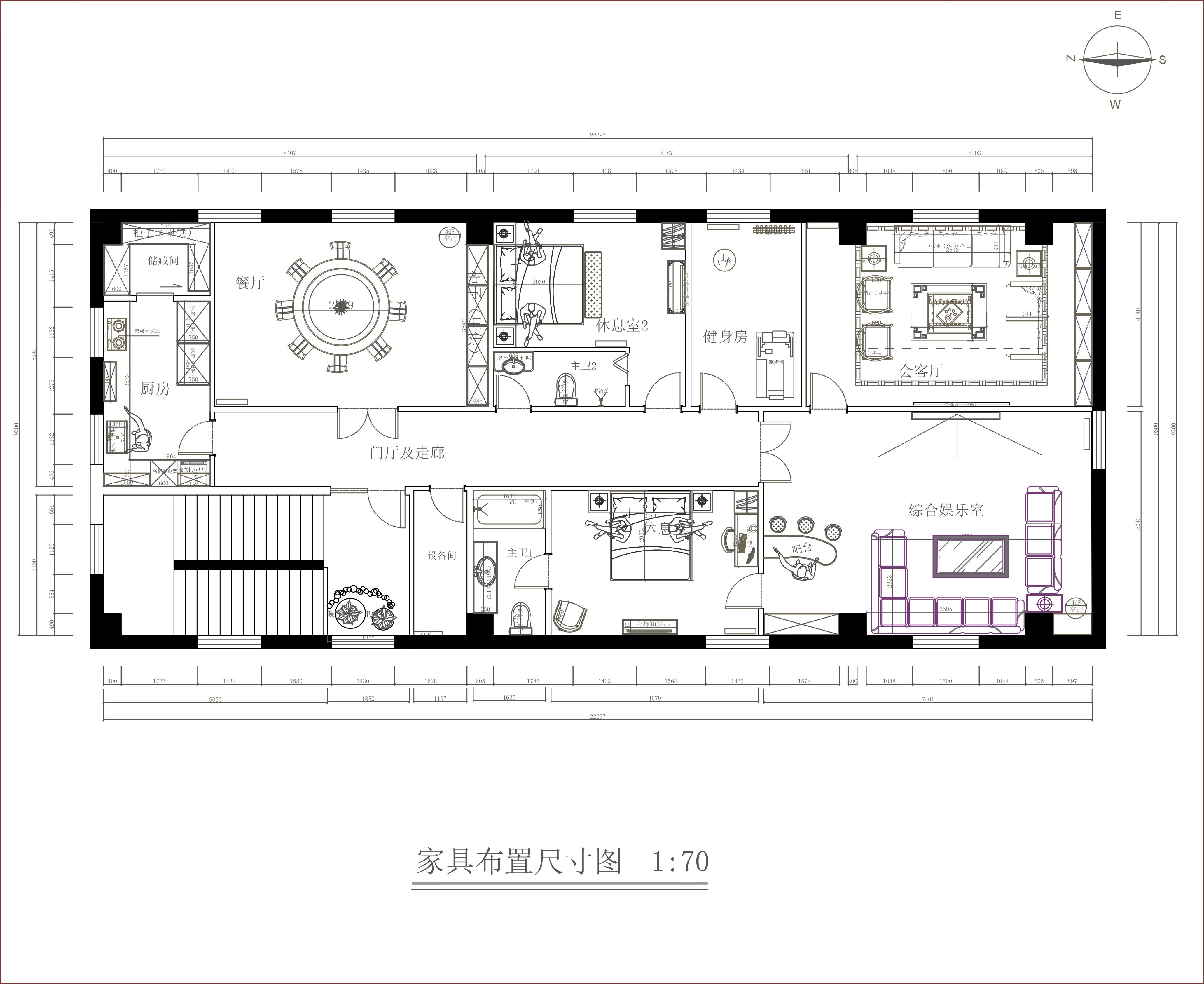 长阳天地-240平米-中式风格装修设计理念