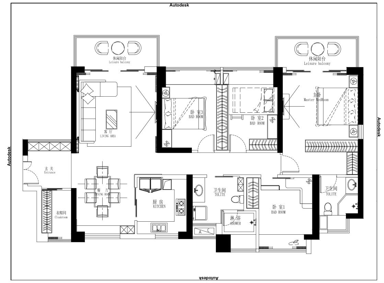 港铁天颂145平_现代简约风格案例_复式楼装修实景效果图装修设计理念