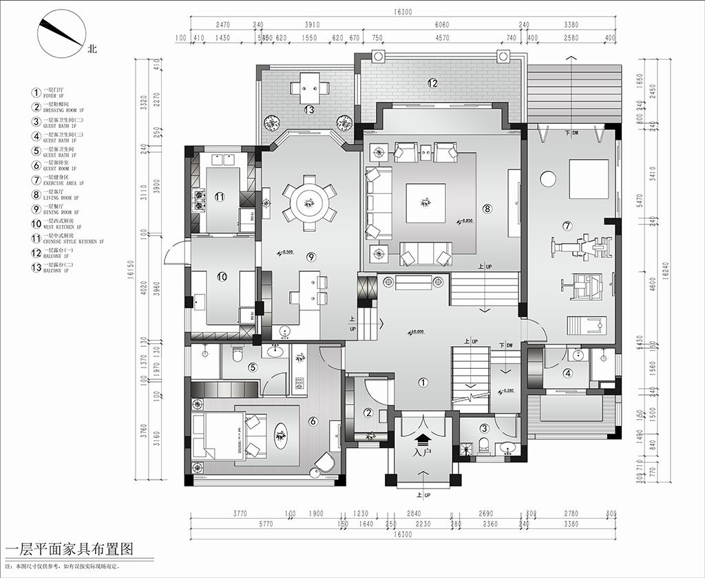 600㎡现代风格独栋别墅装修效果图装修设计理念