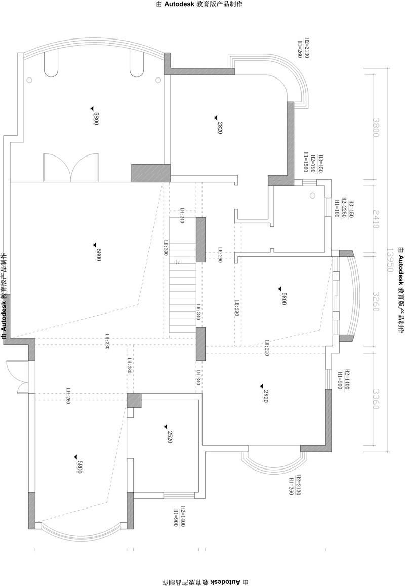 山水御苑350㎡欧式新古典风格效果图装修设计理念