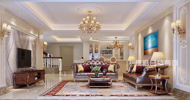 简美风-卧室 别墅装饰风格(三)欧式风 整个别墅空间,给人放松感觉的