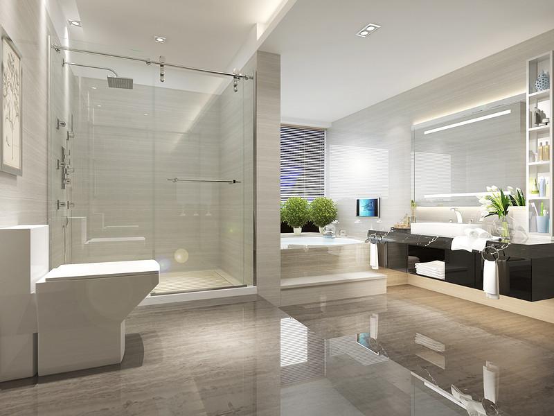 中央豪门-200㎡-现代低奢-四居室-主卫(图7)