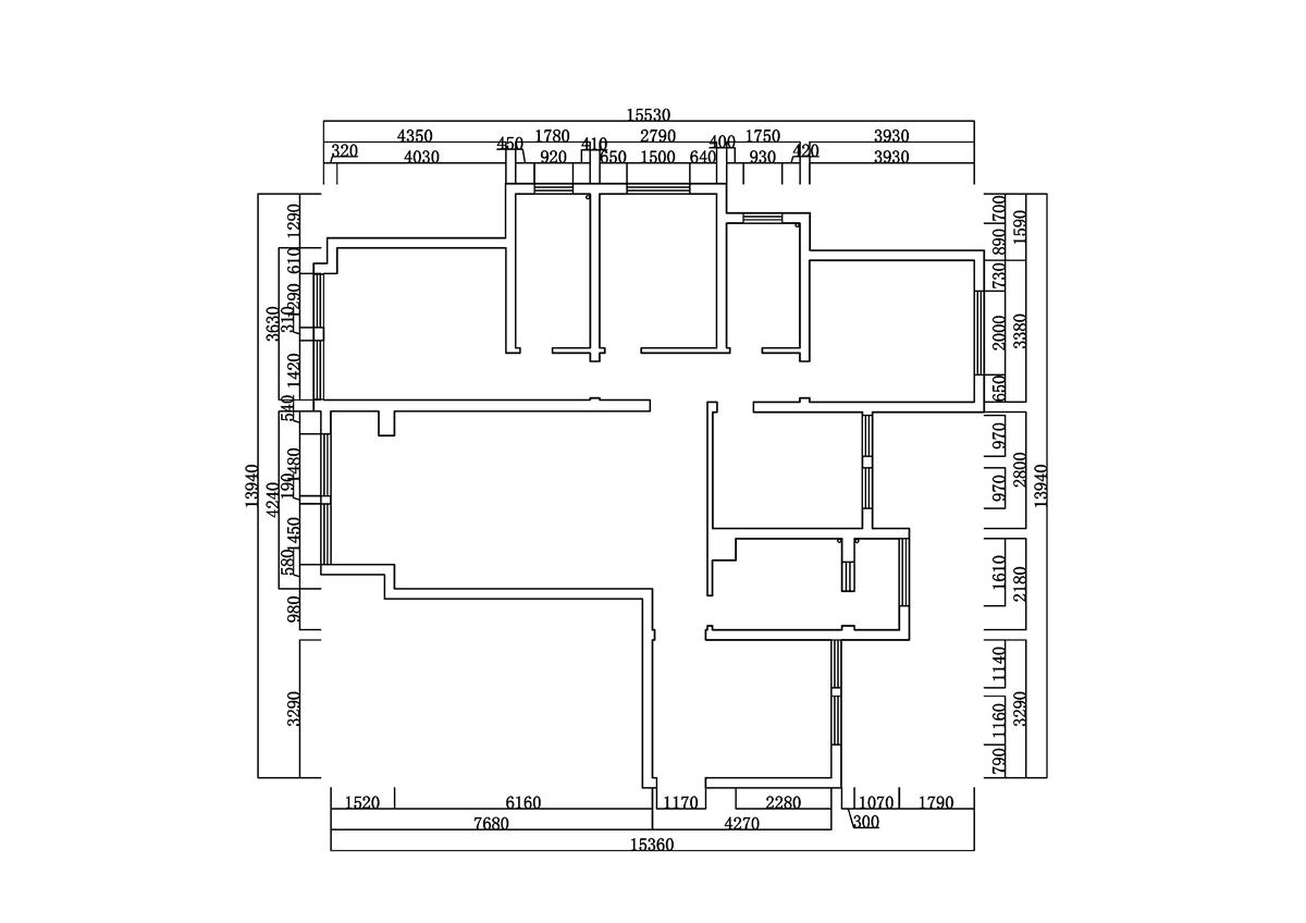 海马公园现代风格170㎡四室两厅装修设计理念