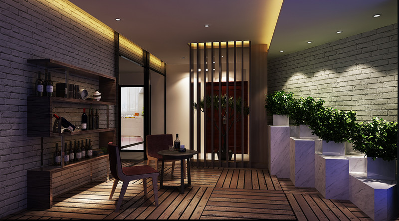 中央豪门-200㎡-现代低奢-四居室-入户花园(图3)