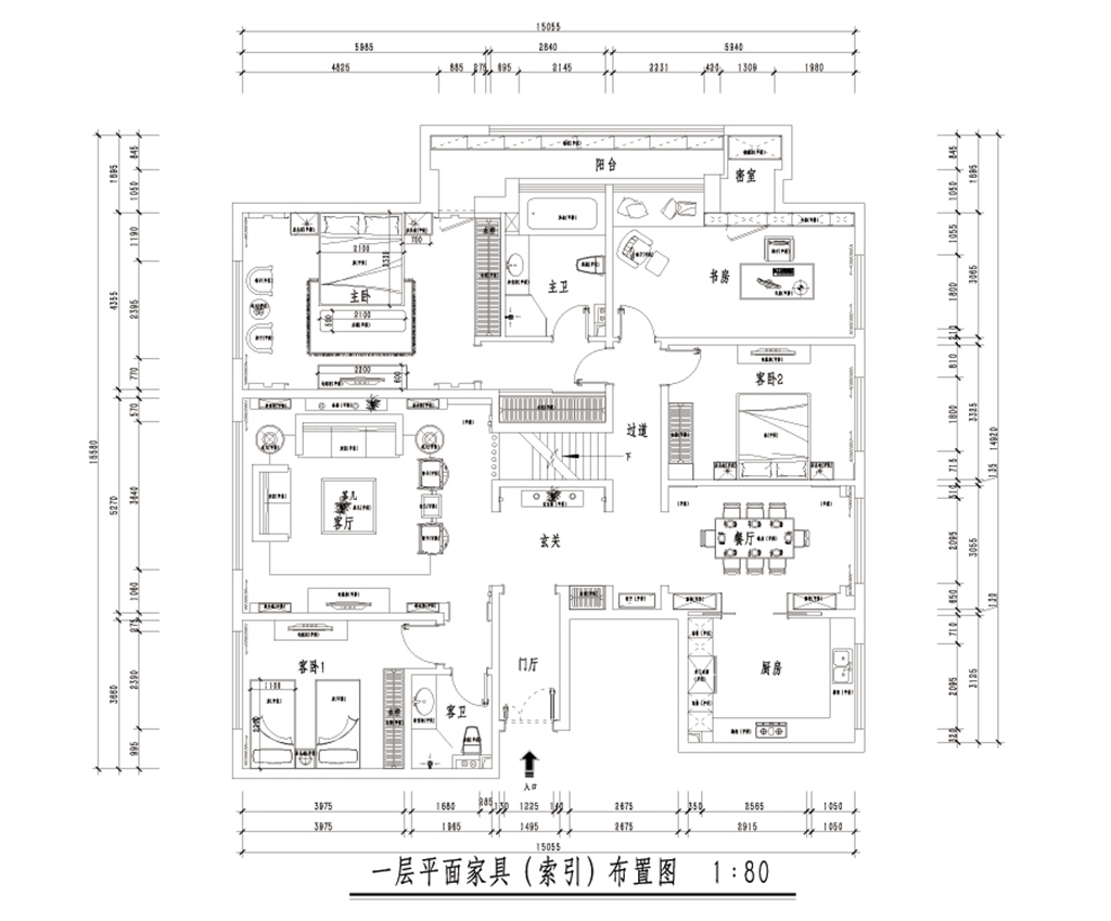 万科清林径280㎡-新中式装修设计理念