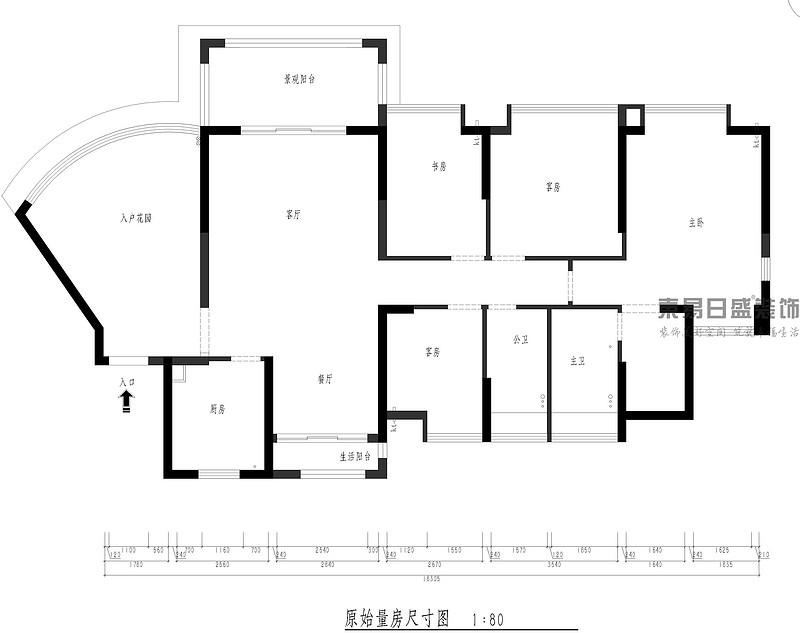 中央豪门-200㎡-现代低奢-四居室-户型解析图(图1)