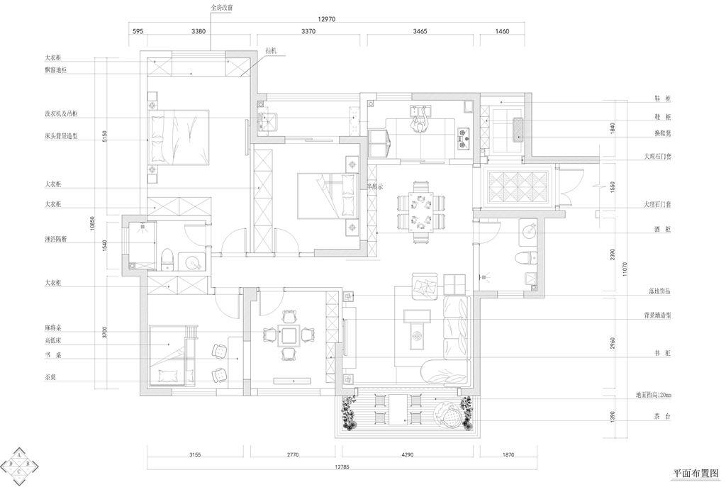 锦湖金利花园现代风格装修效果图装修设计理念
