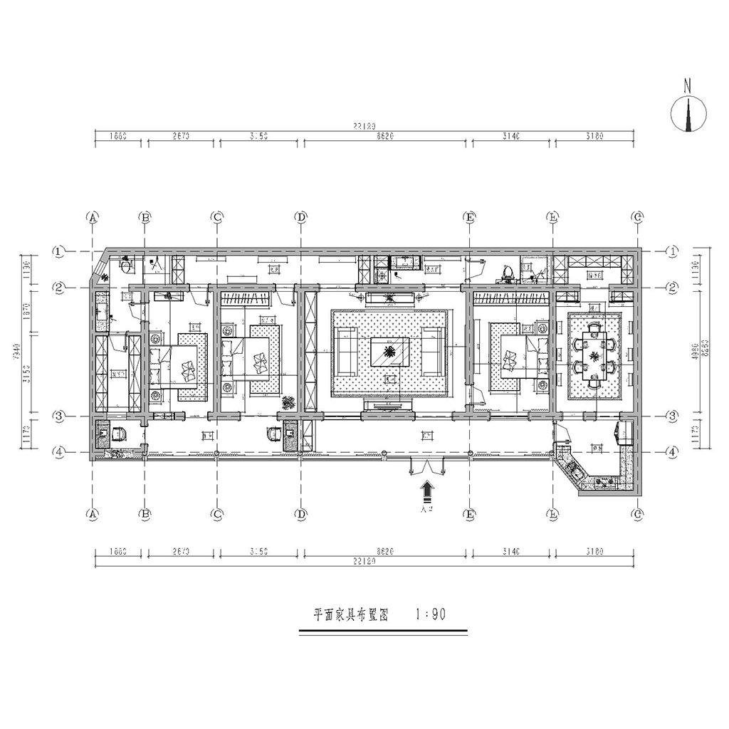 安平巷四合院改造新中式风格装修效果图装修设计理念