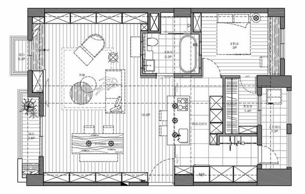 八里庄东里-美式-150平米装修设计理念
