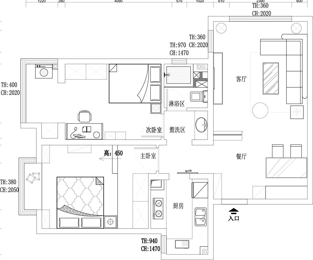 宏泰·龙邸-89平米-北欧装修设计理念