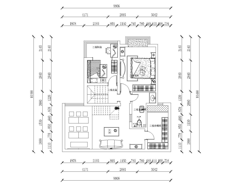 石化路凤凰小区新古典190平复式装修设计理念