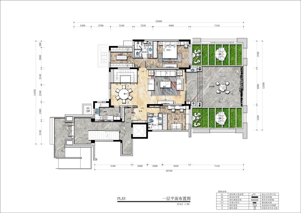 华润城 现代简约风格装修效果图 500㎡ 别墅装饰设计装修设计理念