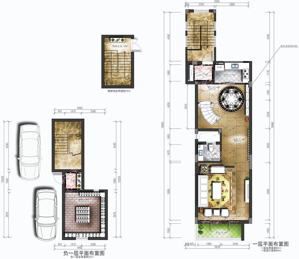 万科红郡叠拼别墅新中式风格装修效果图装修设计理念