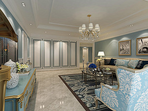 168平美式风格三室装修,朴实舒适的居住空间!
