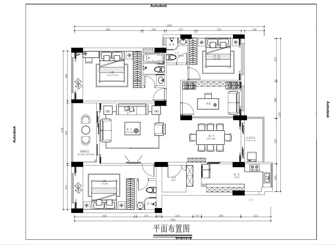 前海丹华-214平-现代前卫-复式装修效果图装修设计理念