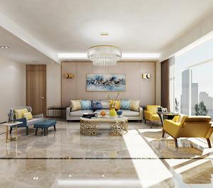 黄埔雅苑170平米的现代美式风格装修案例