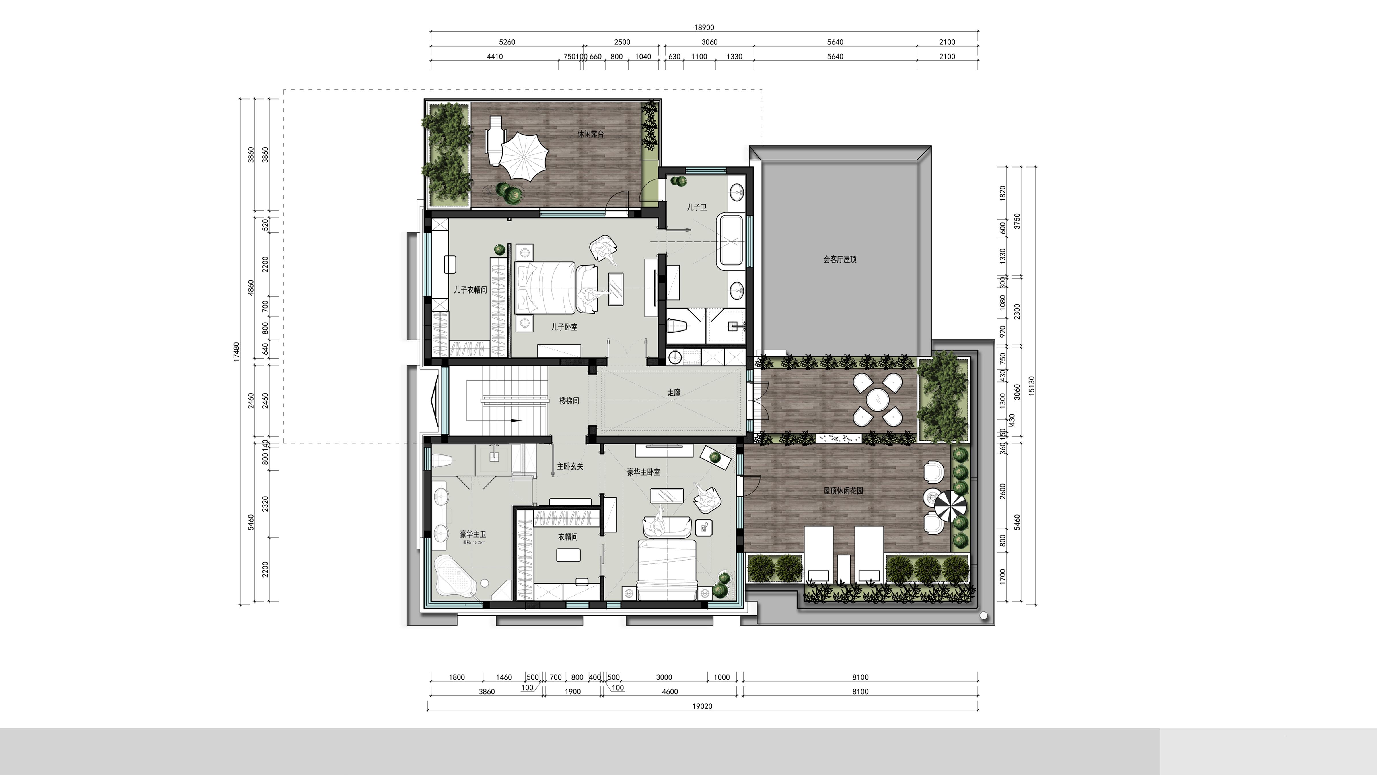 独栋别墅-简约新美式-850平米装修设计理念