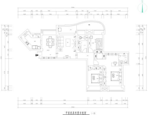 金沙泊岸简美风格142平方装修效果图装修设计理念