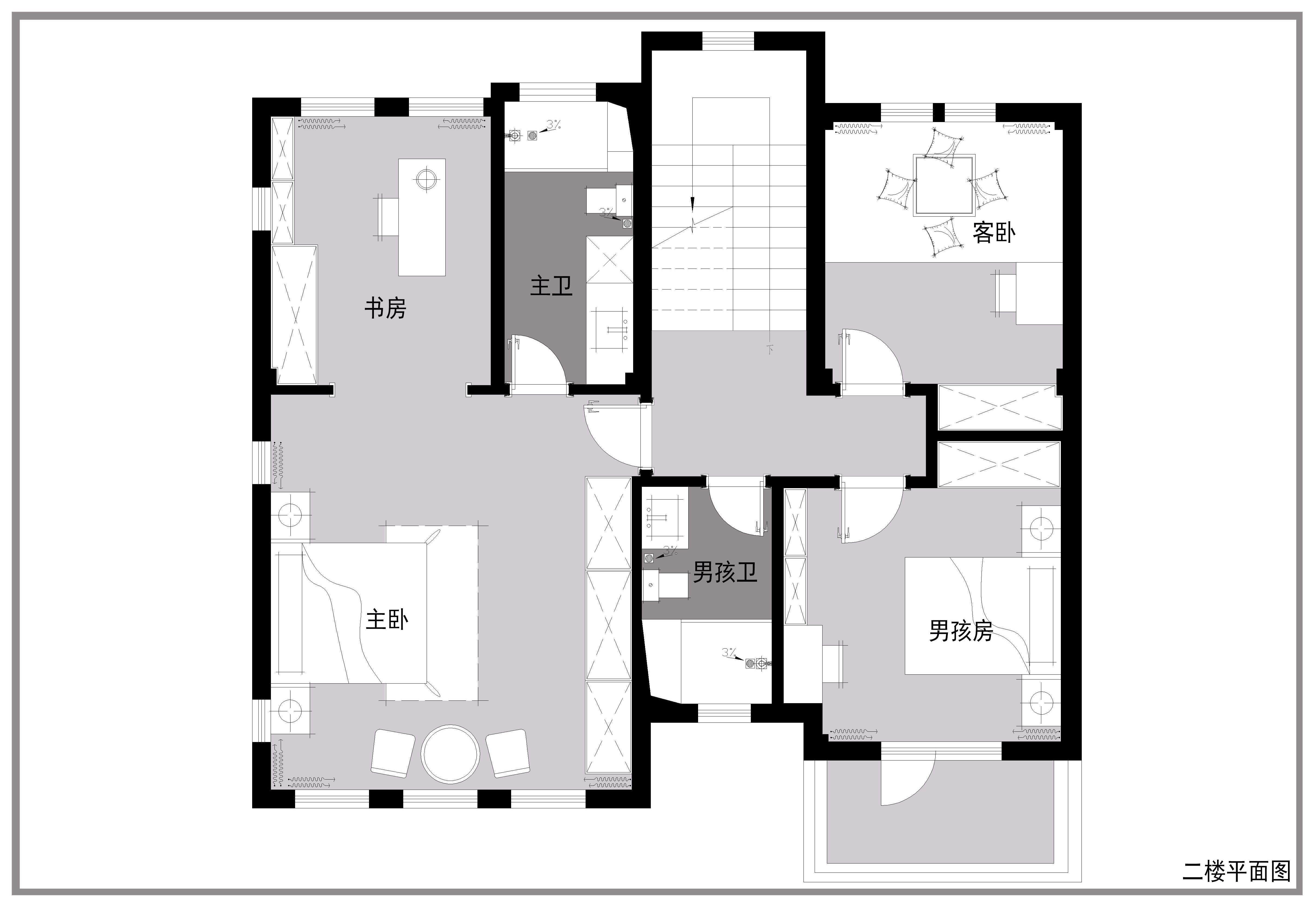 碧桂园玺园210平米美式风格装修效果图装修设计理念