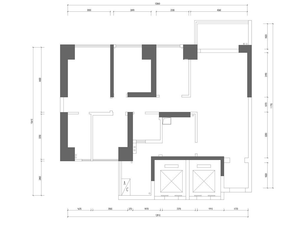 华润城 新中式风格装修效果图 134平米 三室两厅装饰设计装修设计理念