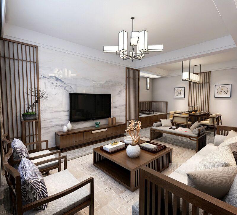 东易日盛装修案例展示:突破常规的新中式风格设计