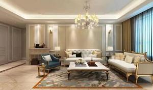 136㎡简欧风装修设计,让家尽显典雅奢华