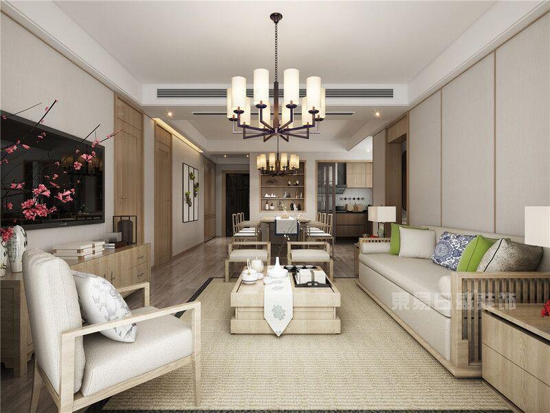 三室两厅如何装修新中式?这套133平米案例给你灵感