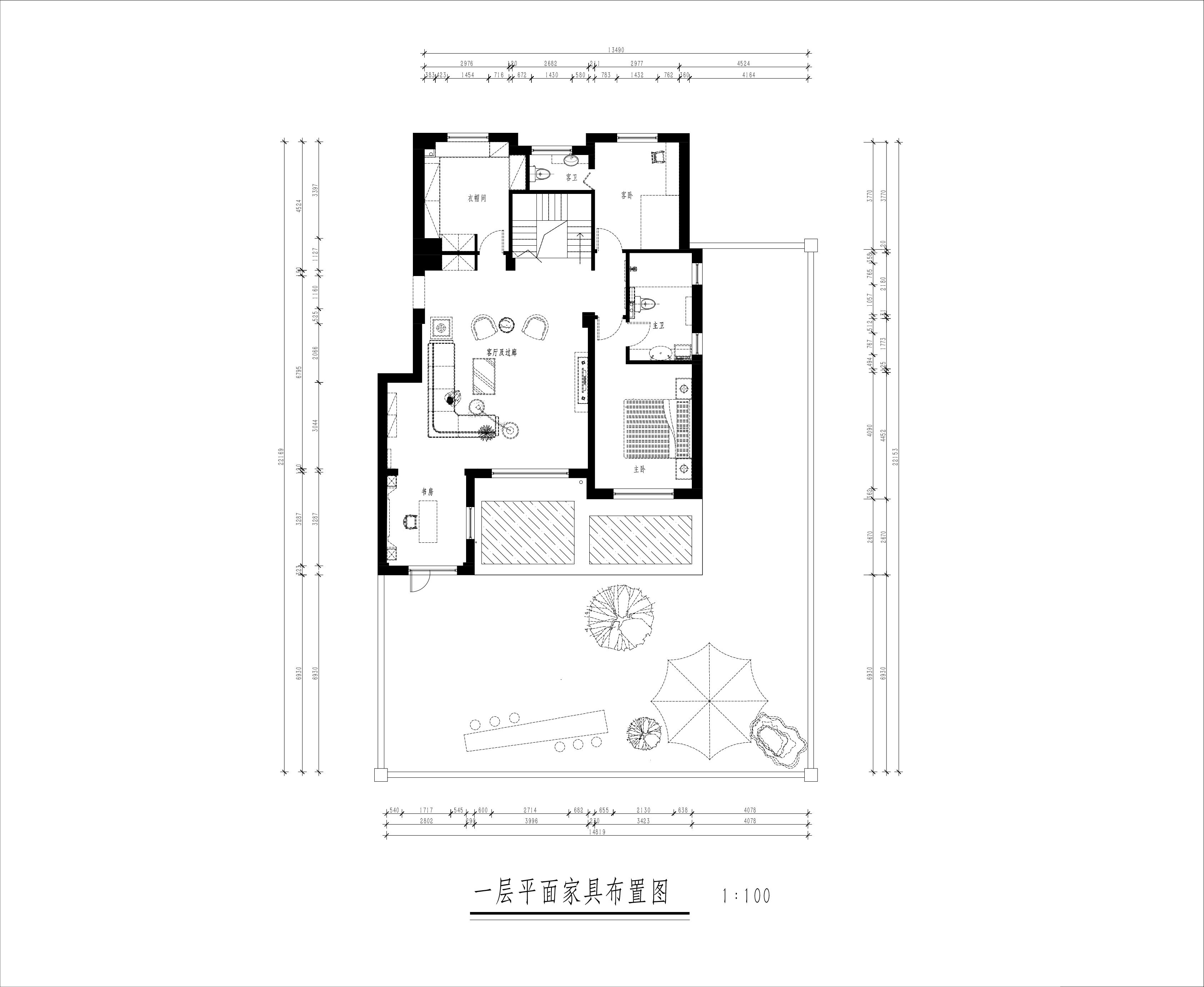 信德华府335平新中式风格装修效果图装修设计理念