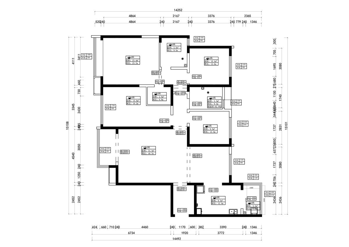 永威五月花城美式风格179㎡四室两厅装修设计理念