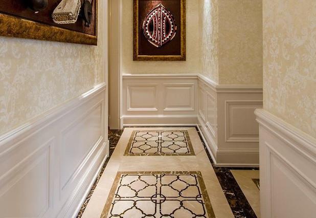 过道地砖拼花尺寸详解,走廊地砖装修效果图图片