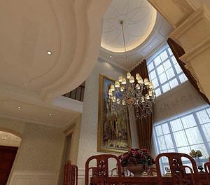 杭州十大装修公司的别墅房屋装修设计中,吊顶的选择