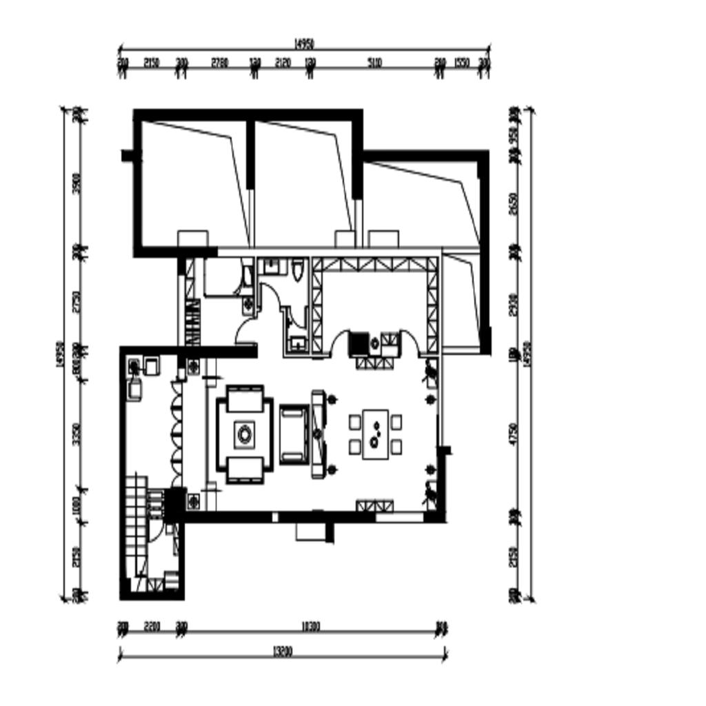 上海上海紫园328平新中式装潢案例成果图装潢策划愿景