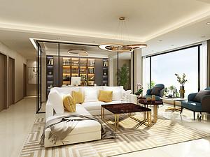 140㎡四居室现代轻奢风格装修效果图解析